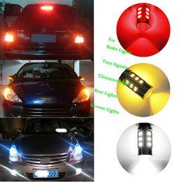 cree rojo bombillas led Rebajas 1157 BAY15D Bombilla Cree LED Chips Lámpara de alta potencia 21 / 5w llevó luces de freno de bombilla de coche Fuente de estacionamiento Blanco Rojo Amarillo 12V -