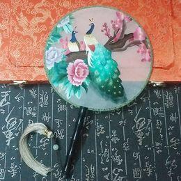 Fait à la main, 100% soie, fini Suzhou, broderie, éventail, produit de broderie double face, oiseaux et éventails ? partir de fabricateur