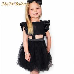 vestidos estilo cinderela para meninas Desconto 2019 novo verão bebê meninas vestidos sólidos mangas gola quadrada na altura do joelho vestido de baile vestido para crianças pequenas roupas ds498