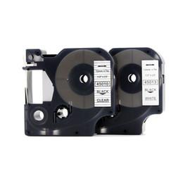 Etichette dymo online-Nastro di etichette PUTY 5 PCS D1 45010 Compatibile Dymo D1 Manager 12mm Nero su nastro di etichette 12mm trasparente Utilizzato per stampante Dymo