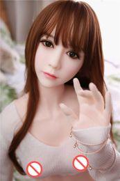hermoso juguete sexual japonés Rebajas 165 cm 3D Realista pecho grande Japonés real de silicona muñeca del sexo adulto juguetes sexy para hombres hermoso Japón Asia cabeza oral TPE