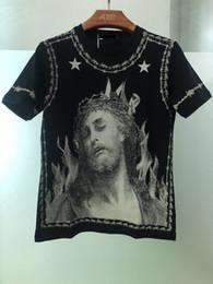 Дизайнер повседневной одежды с короткими рукавами 3D God God напечатал высококачественные мужские и женские хип-хоп футболки cheap t shirt jesus от Поставщики футболка jesus