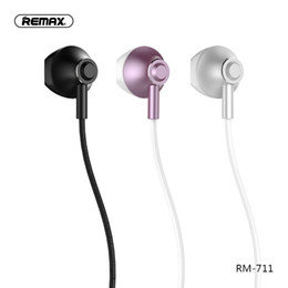 Разъем для наушников для мобильного телефона онлайн-Remax  In-Ear Earphone With Microphone 3.5mm Jack Wired Headphones For Xiaomi Huawei Mobile Phone HIFI Common Headphone