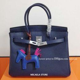Metall geldbörsen silber online-SILBER Metall Berkin 2020 Luxus-Handtaschen Designer-Handtaschen Frauen H K-Einkaufstasche MICAELA und weise Kuh-Leder-Handtaschen Schulter diagonaler