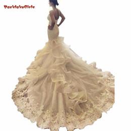 Mermaid Sweetheart Lace Perle Paillettes Big Train Sexy di lusso formale Abiti da sposa Abiti da sposa su misura da