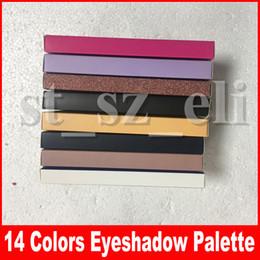 Escovas de sombras de olhos on-line-Maquiagem quente listra moderna paleta da sombra de olho 14 cores paleta da sombra de olho limitada com pincel paleta da sombra 8 estilos