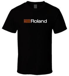Órgão negro on-line-Órgãos de Piano Roland 4 Preto T ShirtFunny frete grátis Unisex Casual Tshirt