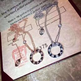 925 catena di platino Sconti Gioielli da donna 2019 Moda New Rose Gold Platinum Double Thick Chain Adjustablefor