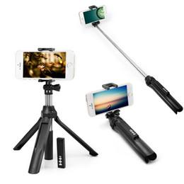 Monopé ajustável on-line-Selfie sem fio de Bluetooth 4.0 Monopod com o tripé ajustável