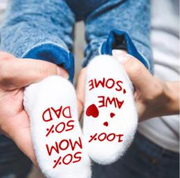 medias al por mayor del arco del cordón de las muchachas Rebajas Linda oraciones carta inglesa infantil calcetines de bebé algodón peinado calcetines antideslizante para niños pequeños 0-1 años 2019 Nueva llegada