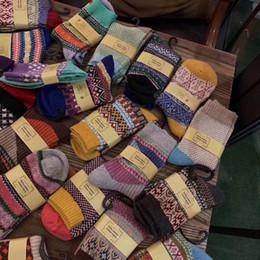 2020 mädchen strümpfe jahrgang Frauen-Mann-Winter warme Socken Vintage Style Thick Knit beiläufige Wolle Crew Socken atmungsaktiv Cozy Weihnachtsgeschenk Strümpfe für Junge Mädchen M958F rabatt mädchen strümpfe jahrgang
