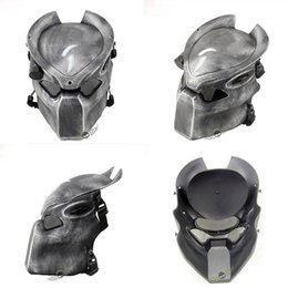Lámparas de lobos online-Alien Vs Predator Lonely Wolf Mask con lámpara Al aire libre Wargame Tactical Mask Full Face CS Mask Fiesta de Halloween