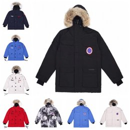 Coletes desportivos para homens on-line-mens canadian clássicos canada goose jackets preto sólido Brasão parka Cor jaquetas men canada goose coat women Outdoor Sports frio  jacket coats
