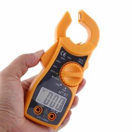 contatore morsetto Sconti New Mt87 Professionale Lcd Multimetro digitale Clamp Meter Multimetro Voltmetro Amperometro Ohmmeter Tester multifunzione portatile Durevole