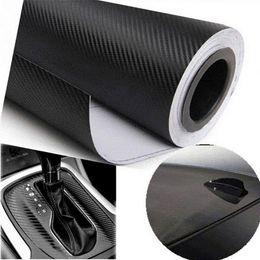 2019 vinyl-platten großhandel DIY 10x127 3D Kohlefaser Aufkleber Vinyl Film Wrap Roll Klebstoff Auto Aufkleber Blatt großhandel rabatt vinyl-platten großhandel