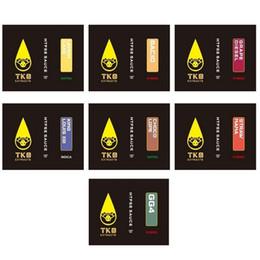 Kasten saucen online-ALLE neuen TKO-Extrakte SAUCE-Kartuschen 0,8 / 1,0 ml Schwarze Tropfspitze Keramikspule TKO-Kartuschen Dicköl-Dampfkartuschen mit 7 Geschmacksrichtungen