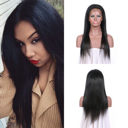 Top Grade Straight 130% Density Lace Front Wigs With Baby Hair Free Middle Part No Processed 100% Virgin Human Hair G-EASY