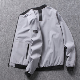 giacche da baseball di qualità uomo Sconti Giacca da uomo Giacca da baseball uniforme di alta qualità Giacca da motociclista da uomo sottile di spessore aviatore Pilota-Taglia: M ~ 8XL