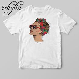 camisetas frescas Rebajas 2019 Moda Cool Print Camiseta Mujer Algodón Blanco Camisetas de Verano Casual Harajuku Camiseta Femme Top