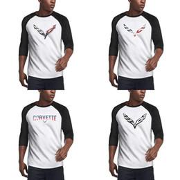 Banderas americanas originales online-100% camiseta de algodón de los hombres de impresión de Verano tapas de la camiseta original del logotipo de Corvette Stingray bandera efecto 3D se vende americana apenada