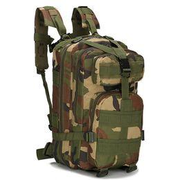 Mochilas de camuflaje para la caza. online-Hombres táctica militar 30L Mochila camuflaje deporte al aire libre que va de excursión de caza Bolsas mujeres que viajan Mochilas Trekking Bolsa