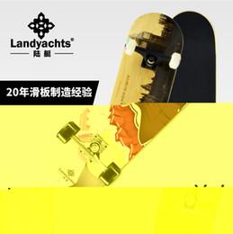 2019 professionelle räder Landskateboard im chinesischen Stil Erwachsene Kinder Vierrad Skateboard Maple Brushing Street Professional rabatt professionelle räder