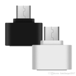 Otg android tablet on-line-Mini Android OTG cabo USB OTG adaptador Micro USB ao conversor USB para PC Tablet Android para Samsung Xiaomi Huawei HTC