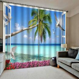 vorhang falten stile Rabatt Verdunkelungsvorhang Vorhänge Wohnzimmer Schlafzimmer Dekor 2 Panels HooksWindow Vorhänge Fenster Strand Vorhänge Baum