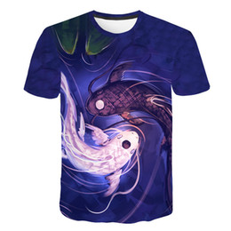 3862e1fc funny fishing t shirts Promo Codes - 2019 New Men Leisure 3D Print t shirt  Funny
