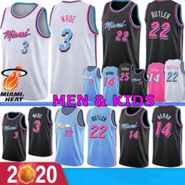 Nuova pallacanestro jersey online-NCAA Dwyane Wade 3 Mens bambini Basketball Maglie Jimmy Butler 22 14 Tyler Herro Goran Kendrick 25 Nunn 7 Dragic 2019 2020 New College Maglie
