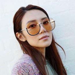 Luxury Sunglasses Half Frame Metal Baking Paint Sun Glasses Men And Women  Ocean Reflective Color sunglasses 6 Colors
