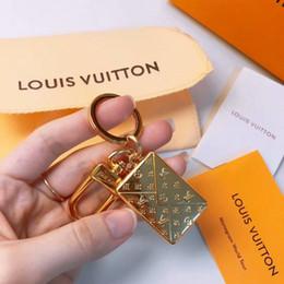 Conception d'enveloppe d'anniversaire en Ligne-2019 New Metal Anglais lettre enveloppe forme marque design porte-clés sac suspendu pendentif pendentif cadeau d'anniversaire