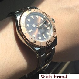 Reloj para hombre YACHT MASTER Moda 40mm cara marrón Relojes para hombres 116655 Deportes Hombres Reloj automático Relojes de pulsera desde fabricantes