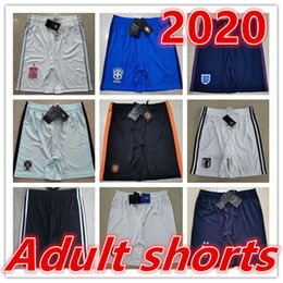 Haut de foot brésilien en Ligne-2020 European Cup Short de football equipe de france Brazil Spain England USA Netherlands Japan Germany Italy football Shorts foot Short pour hommes