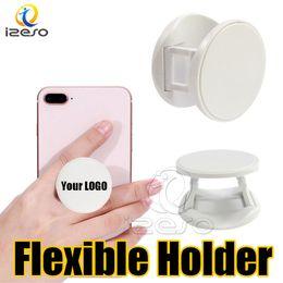samsung flexible telefontablette Rabatt Benutzerdefinierte LOGO Telefongriffe flexible kundenspezifische Design Handyhalter Stand Real 3M Kleber Finger Griff für iPhone Samsung Handys Tablets izeso