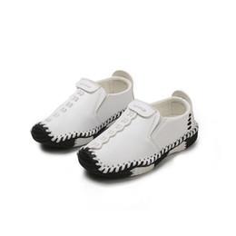 2019 sapatas de bebê da vaca Meninos Vaca Sapatos de Couro Genuíno Calçados Casuais Do Bebê Tollder Crianças Sapatos Para Meninos Sneaker Marca Macio Palmilha Sapatos Crianças Trainer sapatas de bebê da vaca barato