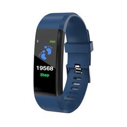 gps tracker kids wholesale Promotion En gros ID115 PLUS écran couleur Smart Bracelet Sport Podomètre Montre Fitness Course à pied Tracker Fréquence Cardiaque Podomètre Bande