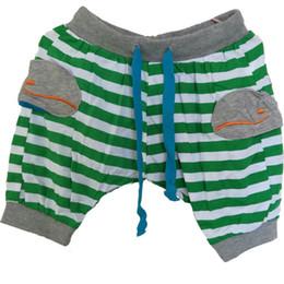 Argentina WNLEIGEL 2017 verano niños niñas pantalones cortos niños patrón de ballena rayada pantalones casuales bebé moda rojo verde ropa de moda 2-9T cheap boys fashion red trousers Suministro