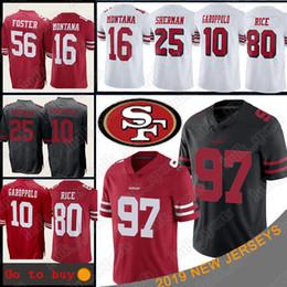 Camiseta de fútbol joe montana online-San Francisco 97 Nick Bosa 49er camiseta 10 Jimmy Garoppolo 80 Jerry Rice camisetas 16 Joe Montana camisetas de fútbol