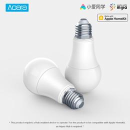 Lumières caméra couleur en Ligne-XIAOMI Aqara 9W E27 2700K-6500K 806lum Lampe de poche blanche à DEL intelligente qui fonctionne avec le kit pour la maison et la maison pour la maison