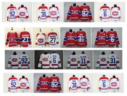 нхл канадиенс Скидка НХЛ Монреаль Канадиенс Джерси 31 Кэри Цена 6 Ши Вебер 92 Джонатан Друин 27 Алекс Гальченюк 100 классические красные белые хоккейные майки