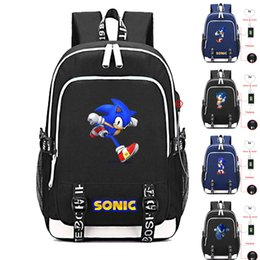 silver sonic Coupons - New Sonic Mania The Hedgehog Student School Bag Cosplay Cartoon Laptop Backpack Kids Teens Shoulder Travel Bags