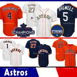 ko Rabatt Houston Trikot Astros 27 Jose Altuve Trikot 34 Nolan Ryan 5 Jeff Bagwell Trikots 4 George Springer 7 Craig Biggio Coolbase Trikot