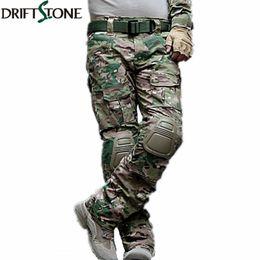 Pantaloni tattici mimetici militari dell'esercito pantaloni uniformi militari Airsoft Paintball pantaloni cargo da combattimento con rilievi ginocchio T2190610 supplier paintball pads da pattini di paintball fornitori
