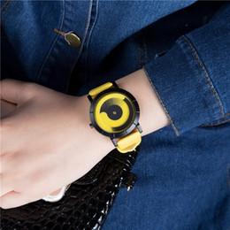 Marcas de relojes de señoras baratas online-2019 Barato Nueva Marca ZIIIRO Celeste Escala Arco Iris Creativa Dial Cuarzo Relojes Unisex Pulsera de acero inoxidable Lady Fashion Gents Relojes
