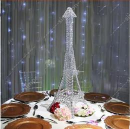 Canada Tour Eiffel Décoration de table Pièce maîtresse De Mariage En Métal Cristal Bougeoir Arrangements floraux Candélabres Offre