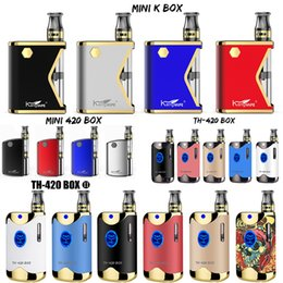 Mini scatole di ceramica online-100% autentico Kangvape TH-420 TH 420 II 710 Mini 420 K Box Mod Starter Kit 650mAh Batteria 0,5 ml cartucce di ceramica E Cigarettes
