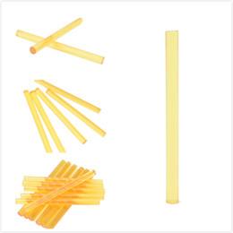 палочка 12шт Профессиональные кератиновые палочки для наращивания человеческих волос Желтый Макияж Инструменты кератиновый клей-карандаш от