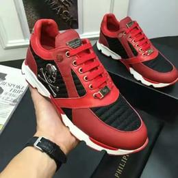 pp schuhe männer Rabatt HERREN Hochwertige Echtleder PP Herren Freizeitschuhe mit Box und Staubbeutel Der Herren Sneaker Running Shoes-2