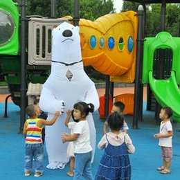 aufblasbarer bär Rabatt Aufblasbare Eisbär-Kostüm-Maskottchen-Kostüme Tier Fantasias Erwachsener Weihnachten Halloween-Geburtstags-Party-Kostüm-Maskottchen-Kostüme WSJ-21